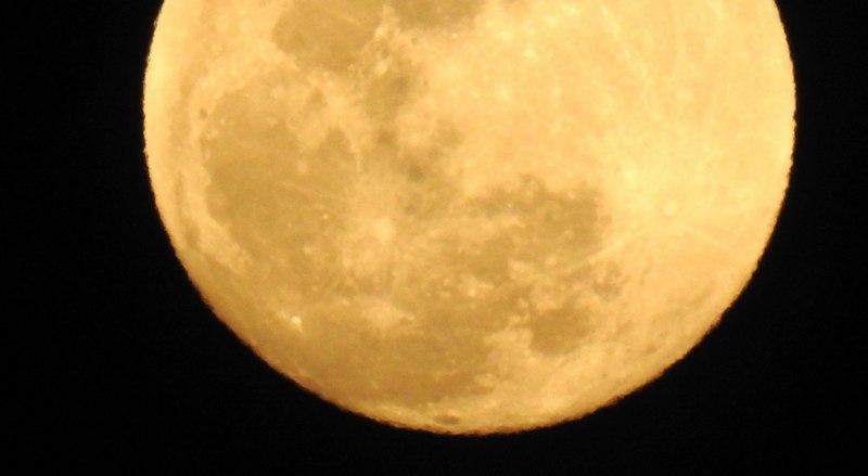満月に目を奪われる